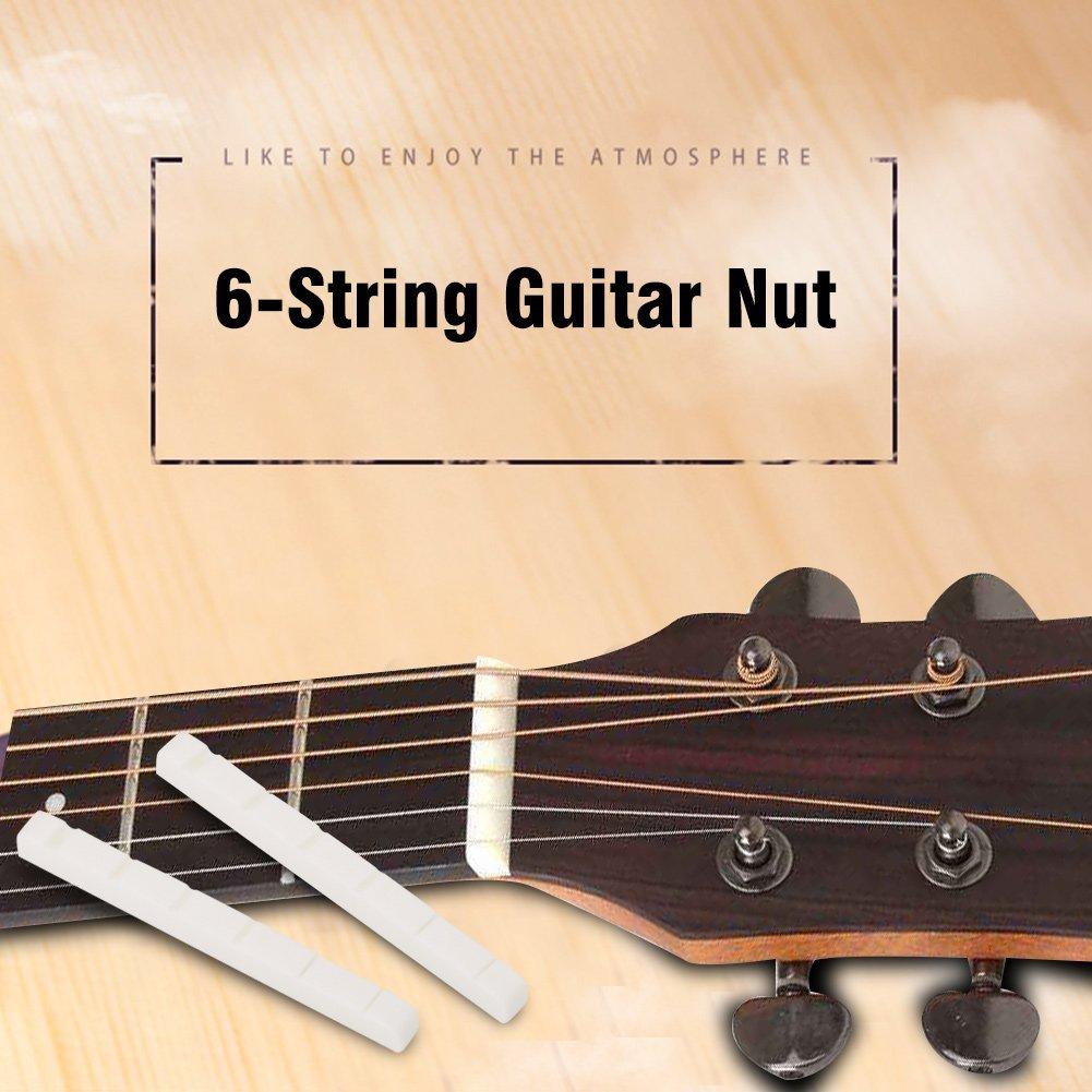 Dilwe Ranurado Saddle y Tuerca, 2Pcs Cuerda Tuercas 42mm Pieza de Repuesto para Guitarra Eléctrica de 6 Cuerdas: Amazon.es: Deportes y aire libre