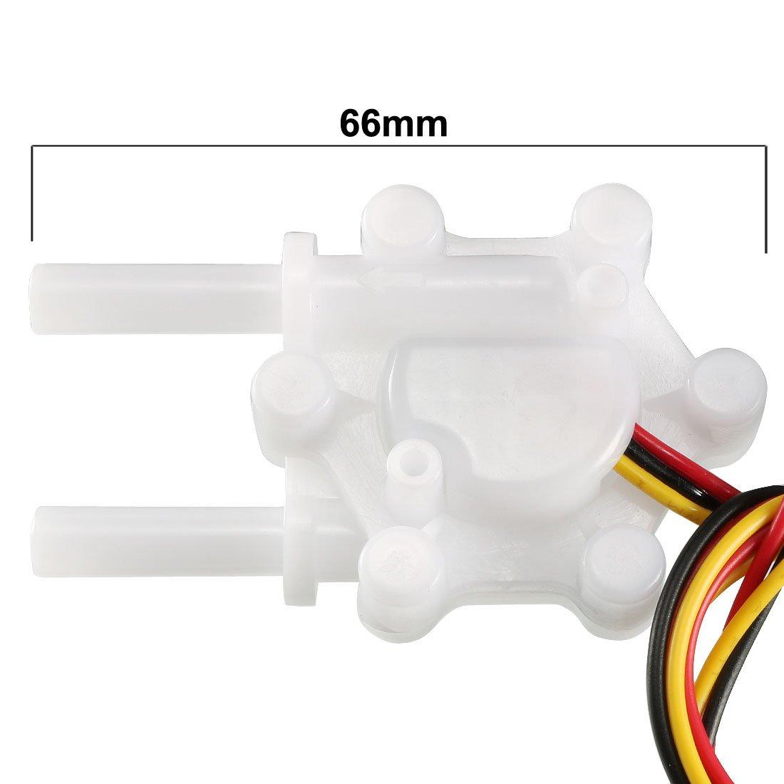 sourcing map Halleffekt Wasser Durchflusssensor Schalter Meter DC5V 0.15-1.5L//min SEN-HW06K DE de