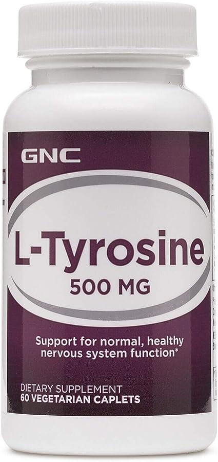 Amazon Com Gnc Ltyrosine 500 Mg 60 Vegetarian Caplets Health