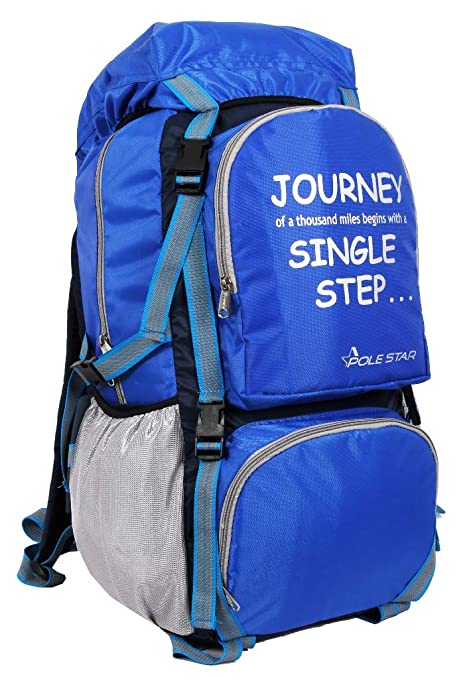 97f6524379 POLE STAR Rocky PRO 60 lt Blue Rucksack with rain dust Cover I Hiking   Trekking  Backpack Bag  Amazon.in  Bags