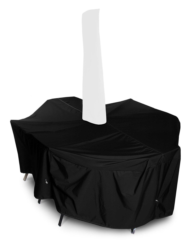 112長さx 88幅x 36 Hで - 傘の穴、ブラックとKoverRoos 71361 Weathermax大ハイバックダイニングセットカバー。 B007OSJQ5G