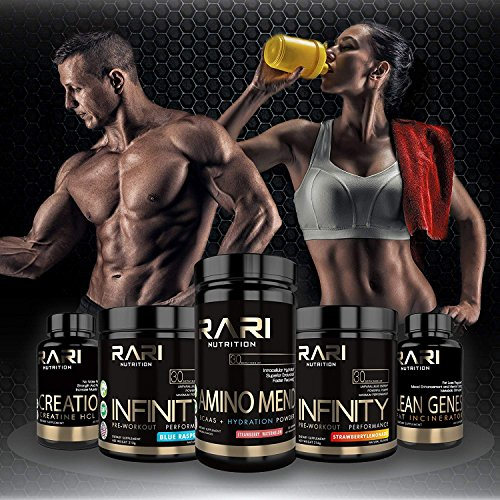 RARI Nutrition - Infinity - 100% Natural Pre Workout Powder for Energy, Focus, and Performance - Vegan and Keto Friendly - No Creatine - No Artificial Ingredients - 30 Servings (Sour Gummy Worm) by RARI Nutrition (Image #7)