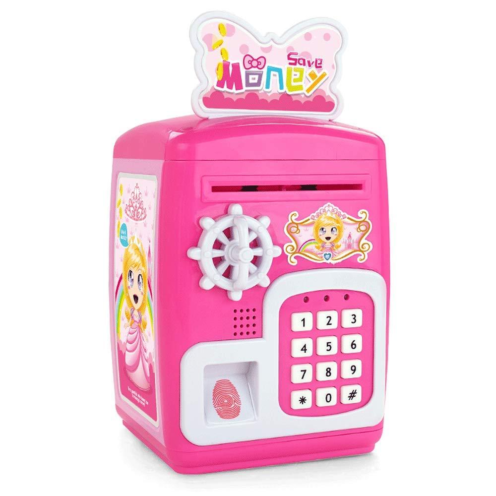 Little Toys Juguetes para niños Simulación Alcancía Alcancía Bebé Seguro Regalo de cumpleaños Niño Niña Educación temprana Rompecabezas Juguete Interactivo Entre Padres e Hijos (Color : Pink)