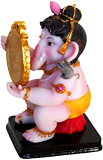 amazon com krishna culture cute baby ganesh at writing desk statue