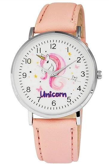 Excellanc llanc Mujer Reloj Quartz Reloj De Pulsera en color rosa con unicornio Esfera: Amazon.es: Relojes
