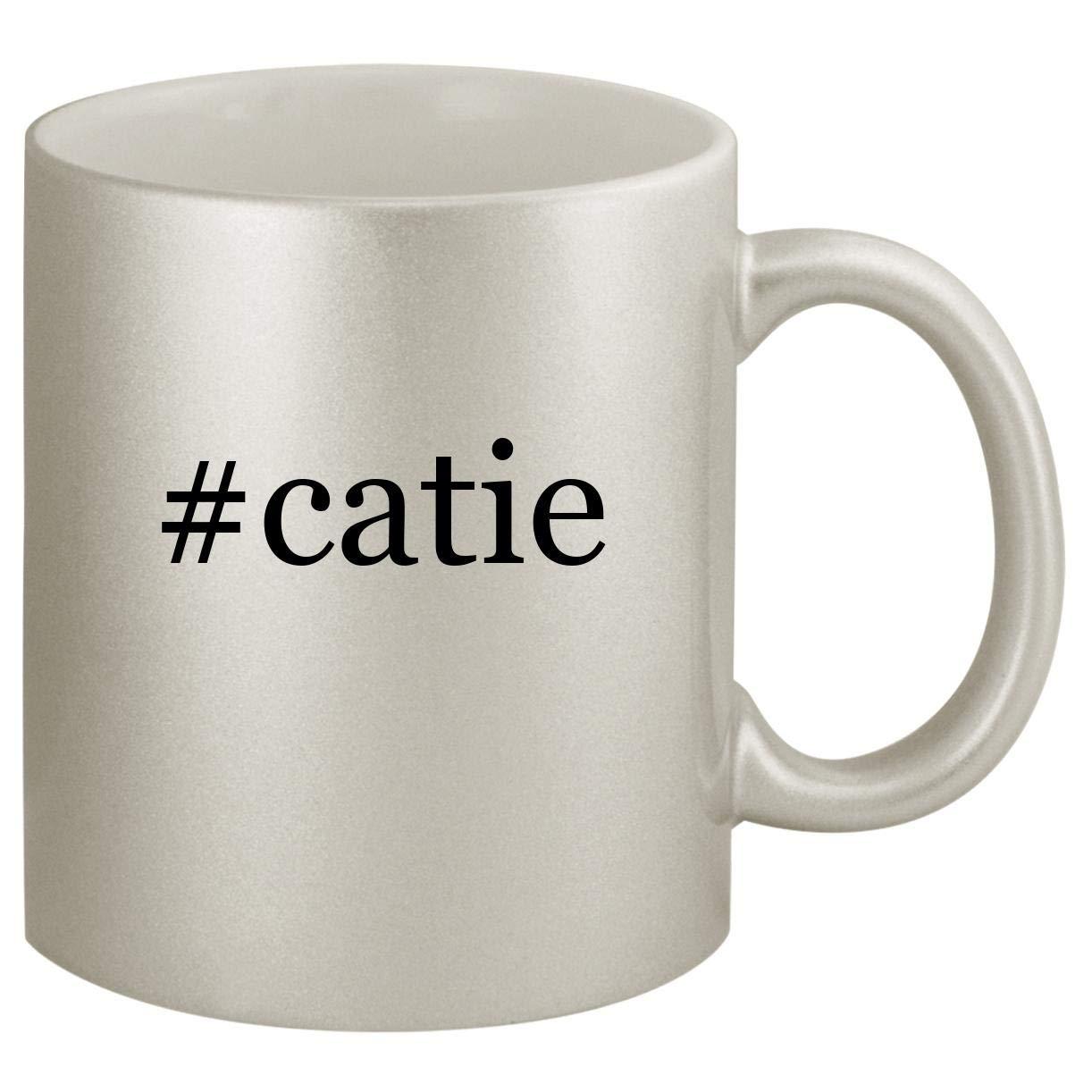 #catie - Ceramic Hashtag 11oz Silver Coffee Mug, Silver