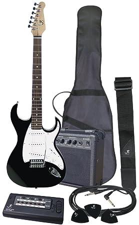 J Reynolds jrpak6b Pack de principiantes para guitarra eléctrica, color negro