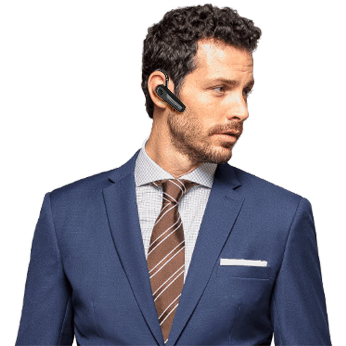 Bluetooth Headset, [New Version]V4.1 Drahtlos Kopfhörer Bluetooth Ohrhörer mit Mikrofon, Rauschunterdrückung Funk-kopfhörer für LKW-Fahrer, Wireless Headset für iPhone Android Handys Hörmuschel (Black_SEED)