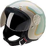 Fiberglass Shell 40-430 HCI Classic Gloss Wine Red Half Helmet w//Visor
