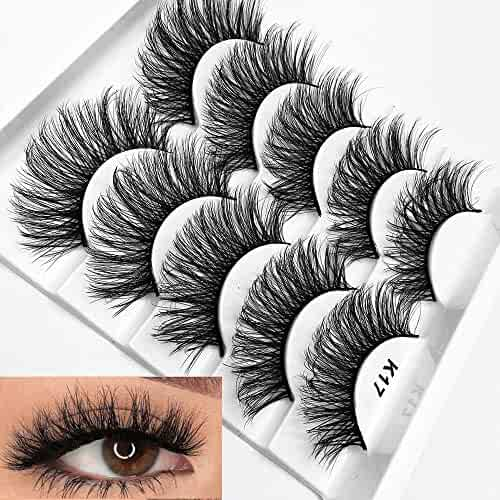 Mixed 3D Mink Hair False Eyelashes Full Strips Thick Cross Long Lashes Wispy Fluffy Eye Makeup Tools5 Pairs