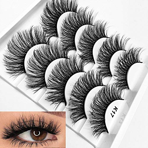 Mixed 3D Mink Hair False Eyelashes Full Strips Thick Cross Long Lashes Wispy Fluffy Eye Makeup Tools5 - Real Eyelashes Hair False