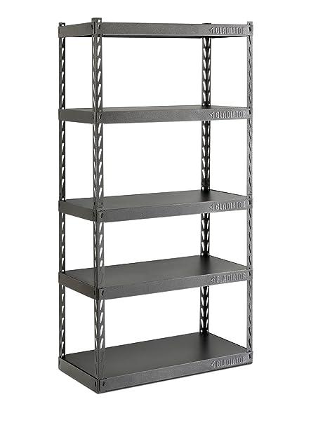 amazon com gladiator gark365tgg 36 wide ez connect rack with five rh amazon com 18 deep shelving units 18 deep shelving
