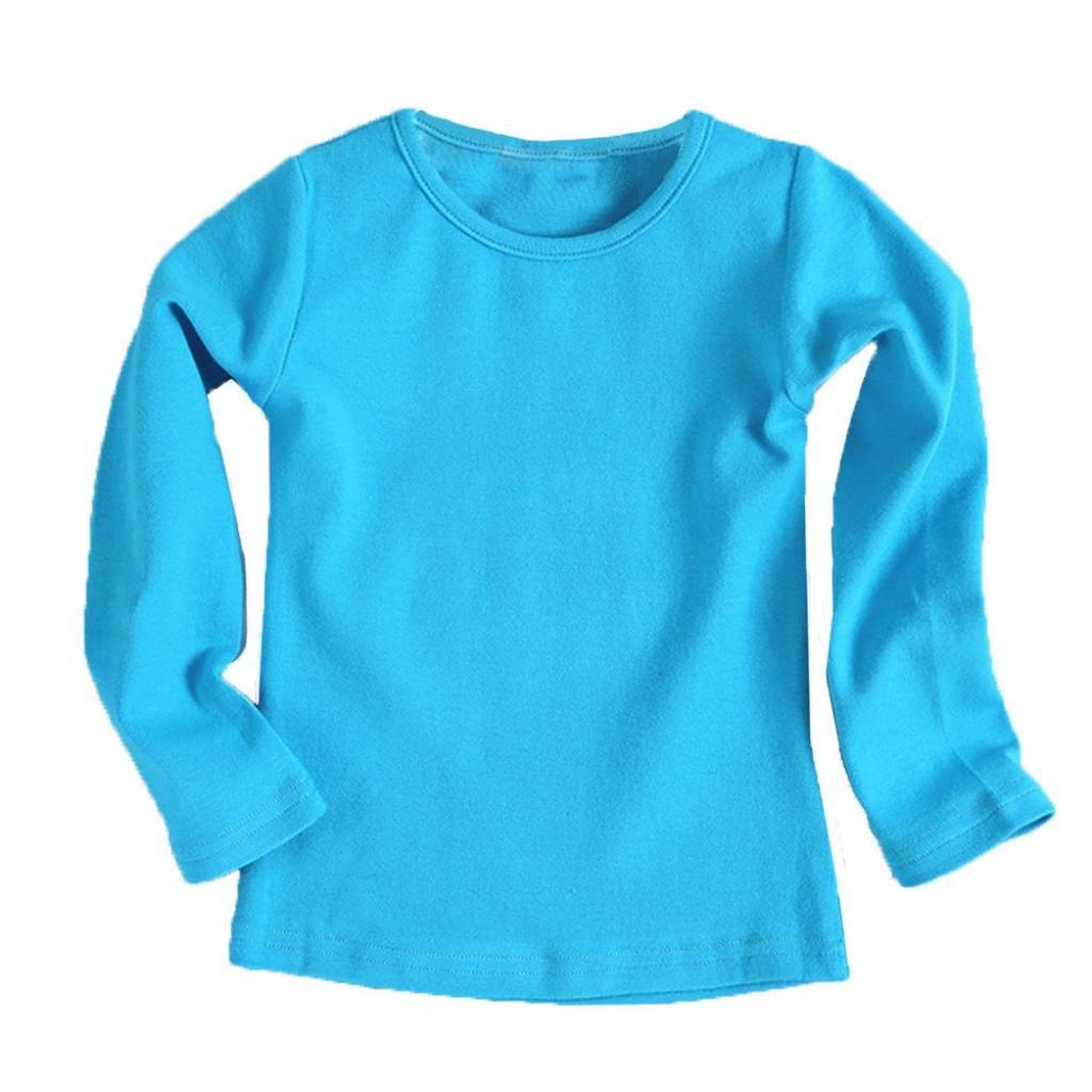 URSING Kinder Super Süß Langarmshirts Süßigkeit Clour Familienkleidung Langarmshirt Basic Schlichtes Einfarbige Sweatshirt Junge Mädchen T-Shirt Unisex Klassik Pullover