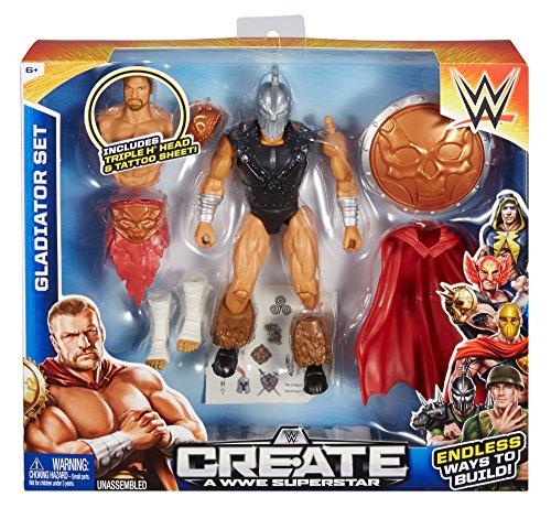 Create a WWE Superstar Triple H Gladiator Set, Package May (Wwe Unlimited Wrestling Figure)