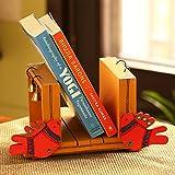 ExclusiveLane 'Chirping Birds' Book End Handmade In Wood - Book Shelf Book Case Holder Decorative Wooden Bookends Book Stand Desk Bookshelf Book Shelves Desk Book Organizer For Kids
