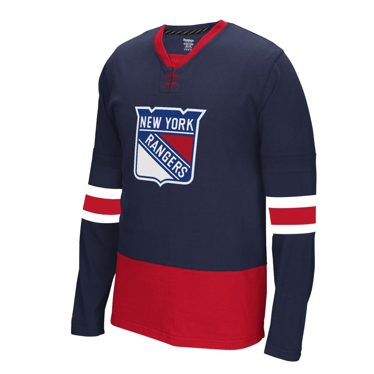 Amazon.com   Reebok NHL New York Rangers Mens Face Off Jersey Long Sleeve Tee  Shirt (Medium)   Sports   Outdoors 2b558018a8d