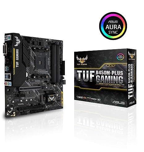 ASUS TUF B450 Gaming Motherboard AMD Ryzen 2 AM4 DDR4 HDMI DVI-D M 2 Micro  ATX (TUF B450M-Plus Gaming)