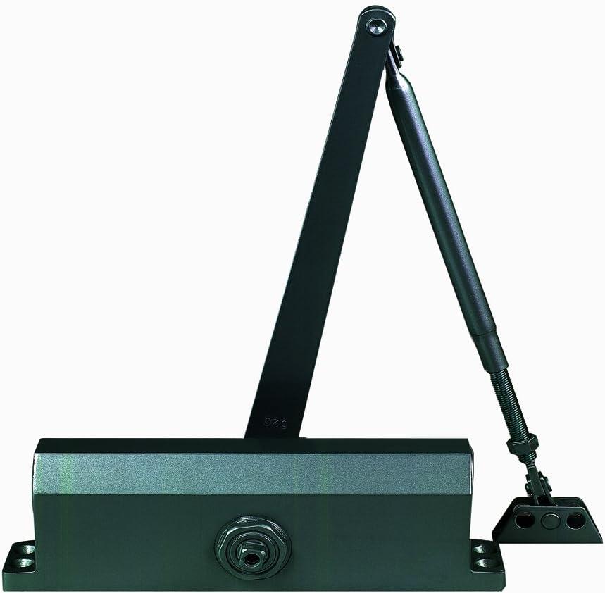 Sizes 1-4 Global Door Controls Commercial ADA Door Closer in Duronotic with Adjustable Spring Tension