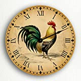 Cheap Rooster Traditional Kitchen Motif 12″ Silent Wall Clock