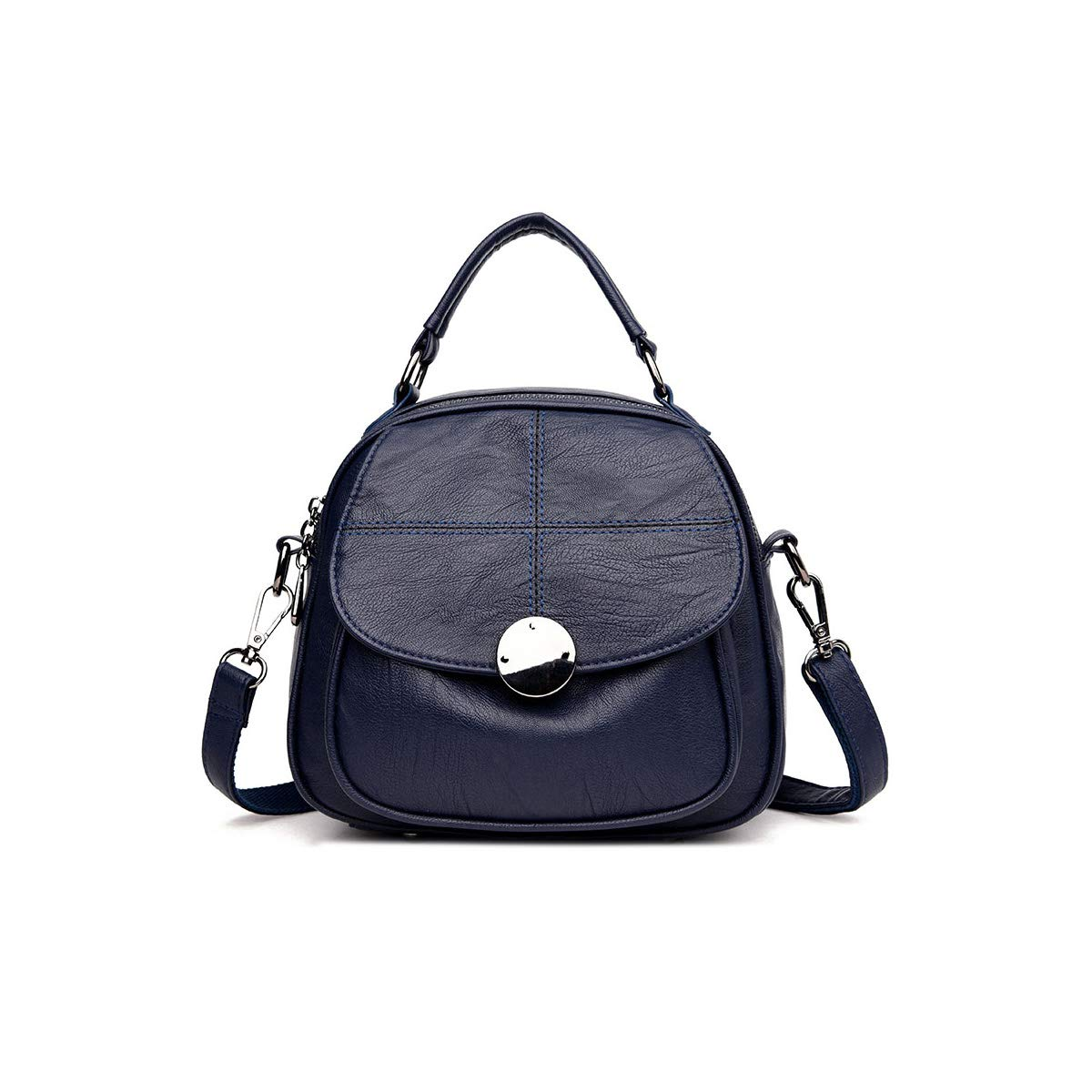 Vintage Mini. Haoyushangmao Girls Multi-Purpose Backpack for Daily Travel//Outdoor//Travel//School//Work//Fashion//Leisure Color : Blue, Size : 24cm21cm13cm PU Leather Five Colors