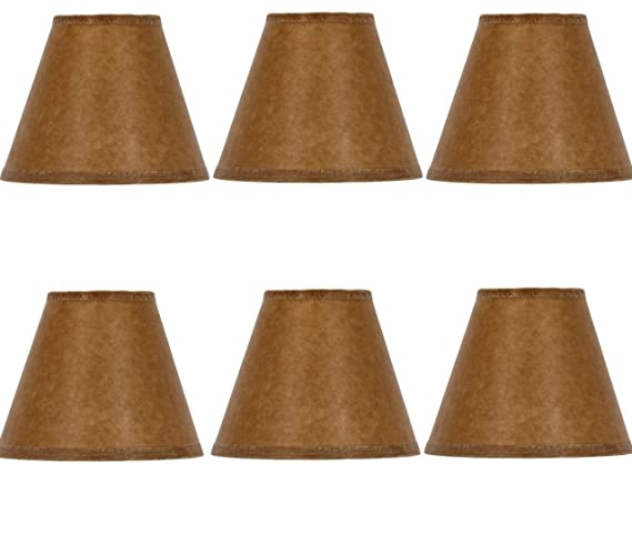Mini Chandelier Shades Clip On Small Lamp Shade Set Of Six Oiled