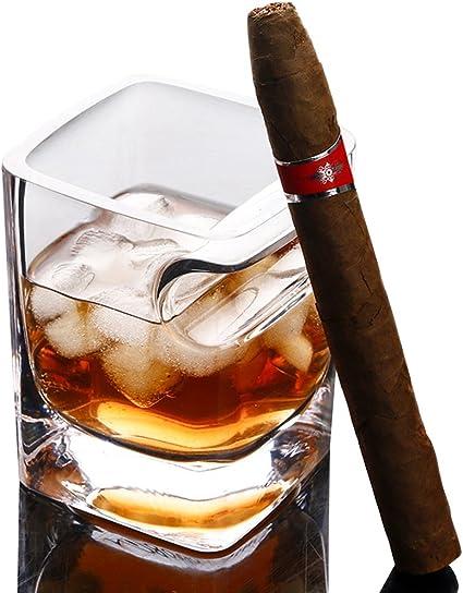 Uoging - Vasos de cóctel con Soporte para cigarros, Vasos de ...