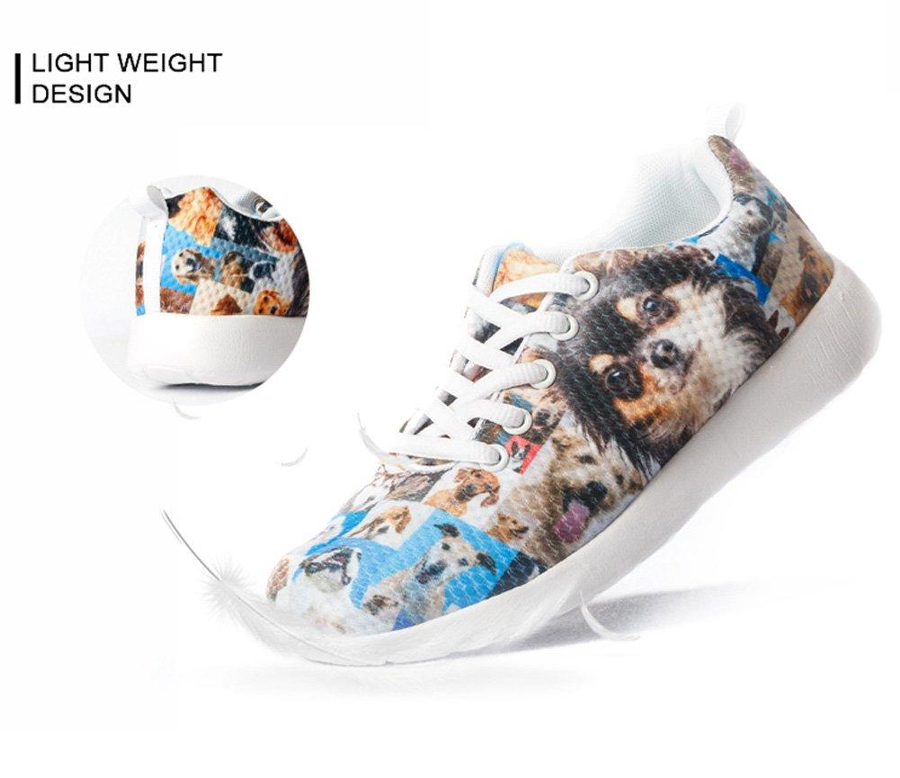 HUGS IDEA HUGSIDEA Pet Dog Print Kids Mesh Breathable Sneaker Fashion Running Shoes For Girls by HUGS IDEA (Image #4)