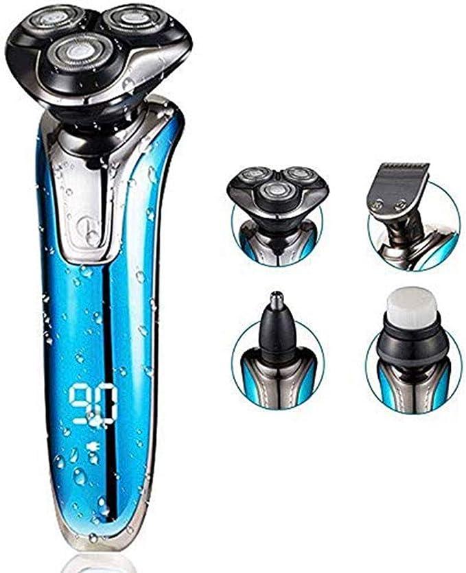 FJZ Afeitadora Multifuncional máquina de Afeitar 4-en-1 Pantalla de Afeitar Recargable Lavado de Cara máquina de Afeitar eléctrica 4D Digital Inteligente Afeitadora ...