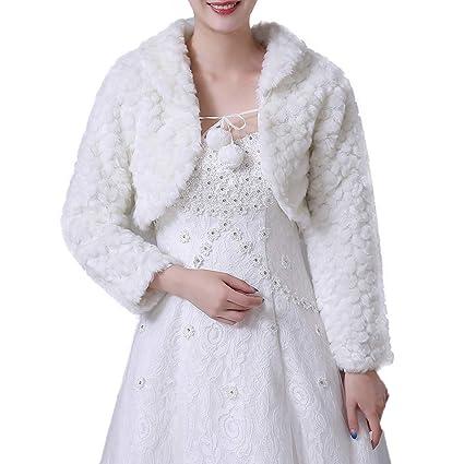 Yzibei Nobile Inverno Caldo da Donna Scialle Avvolgente da Sposa Manica  Lunga Cappotto Sciarpe Stole Poncho 73a7b1d8a4ef
