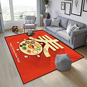 Amazon.com: Chinese New Year Standing Mat Easy to Clean ...