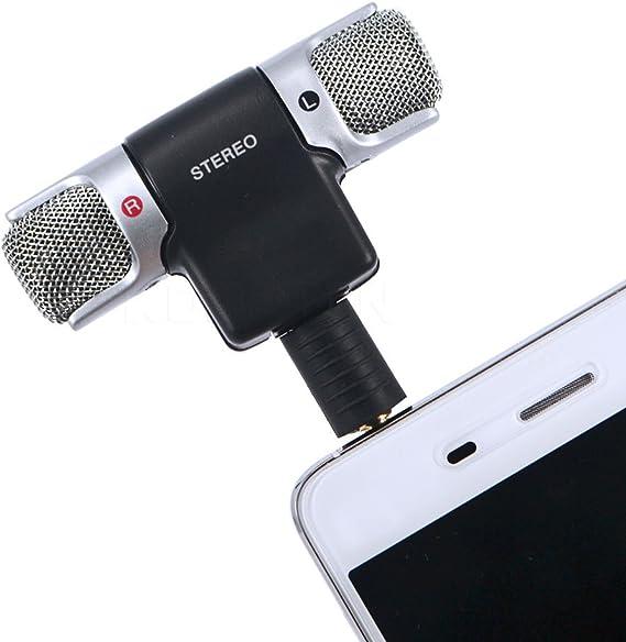 owikar 3,5 mm estéreo micrófono de condensador electret ECM-DS70p clara voz Mini micrófono para grabación Entrevista Universal para Sony iphone Samsung Android teléfonos y Tablet PC For phones: Amazon.es: Electrónica