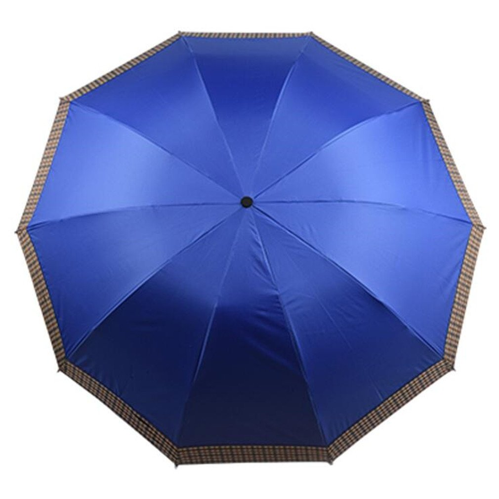 Guoke Extra Rugged Solid-Colored Vinyl Sunscreen Uv Resistant Black Rubber Fine Rain Of Dual-Use, Impact-Resistant Rain,70Cm- Sapphire Blue