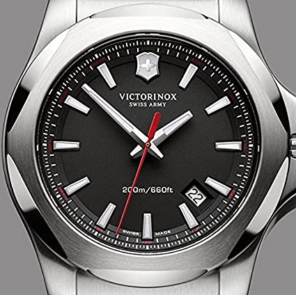 victorinox men s 241682 1 i n o x analog display swiss quartz victorinox men s 241682 1 i n o x analog display swiss quartz black watch victorinox amazon co uk watches