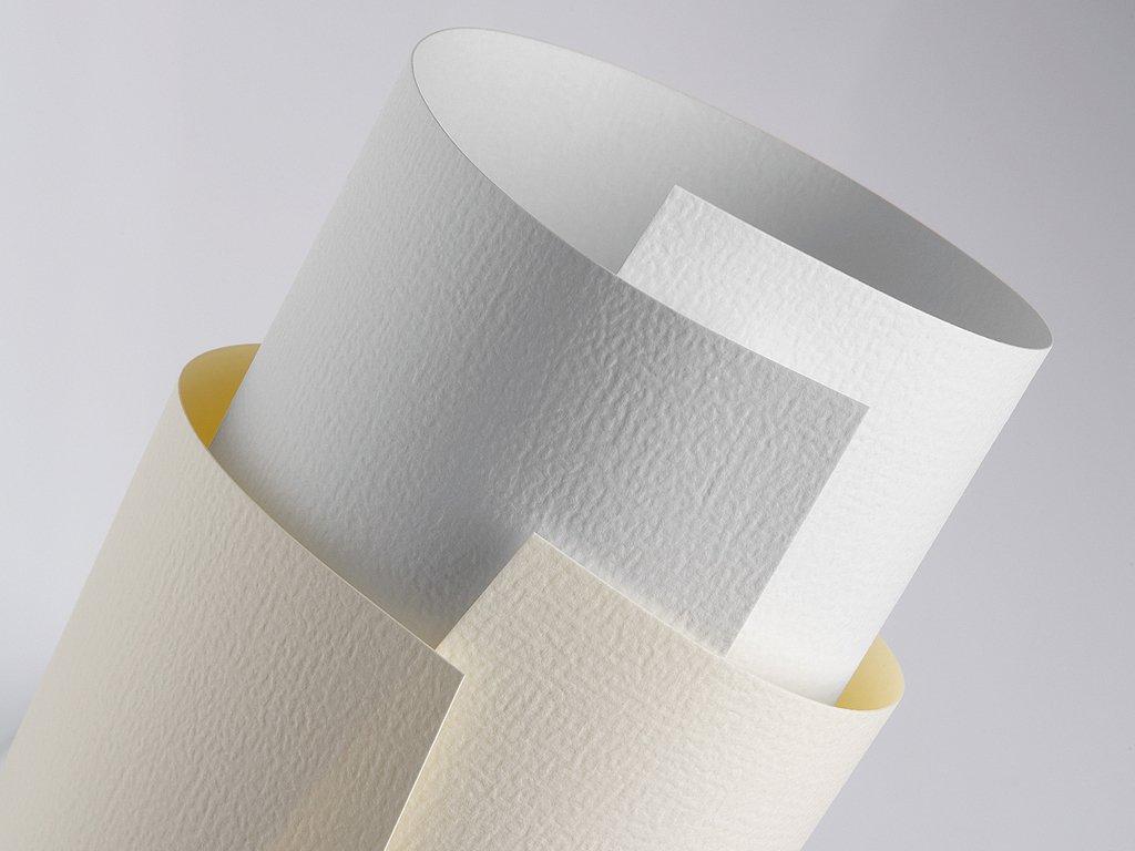 20 FALAMBI Premiumkarton Wove creme, Papier 230 g/m², bedruckbar, elegant geprägter Karton Papier 230 g/m²
