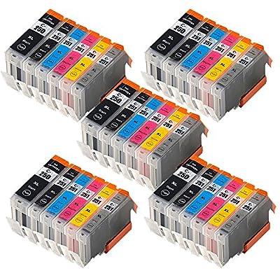Wolfgray 30 Pack Compatible Canon PGI-250 CLI-251 Ink Cartridge for PIXMA iP8720 PIXMA MG6320 PIXMA MG6620 PIXMA MG7120 PIXMA MG7520 Inkjet Printers PGI-250XL CLI-251XL
