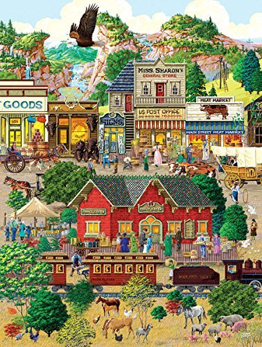 SunsOut Western Town 500 PieceLarge Jigsaw Puzzle