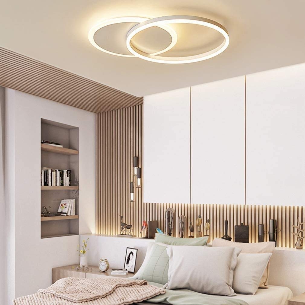 LED Deckenleuchte XKP Moderne Ring Design Decken Lampe Minimalistisch Fernbedienung Dimmbar Aluminium Acryl Beleuchtung Kinderzimmer Lampe Esszimmerlampe Schlafzimmerlampe Badezimmerlampe
