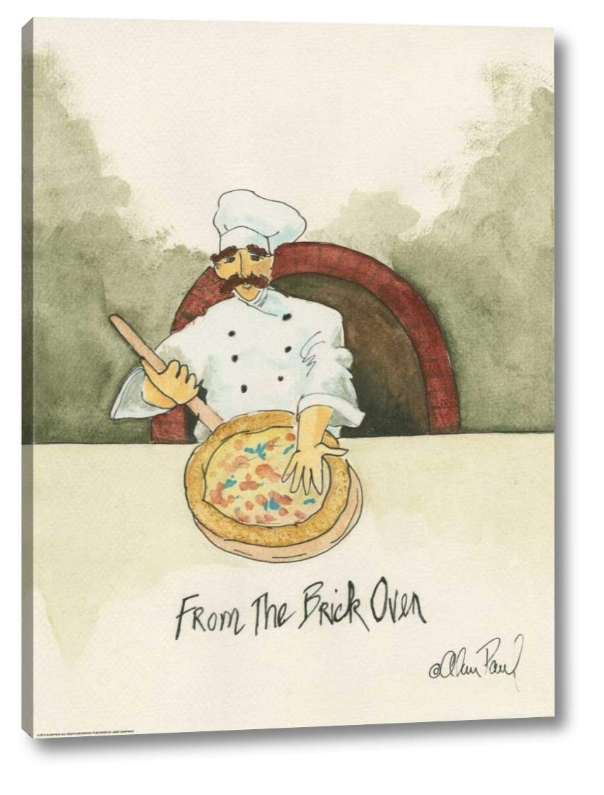 """Brick Oven by Alan Paul - 17"""" x 23"""" Gallery Wrapped Giclee Canvas Print - Ready to Hang"""