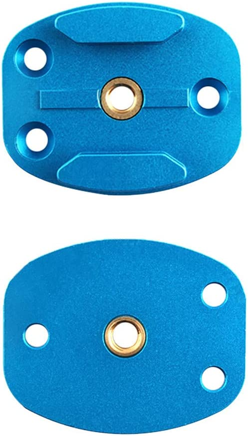 1//4 Camera Screw Interface Mini Rustproof Quick Mounting Plate Tripod Base /♥ Black Hisoul for DJI Osmo Action Camera Flat Surface Base