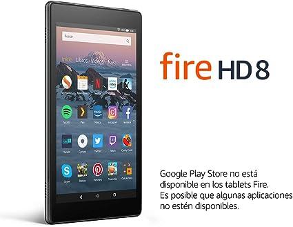 Tablet Fire HD 8 | Pantalla HD de 8 pulgadas, 32 GB, negro, sin ...