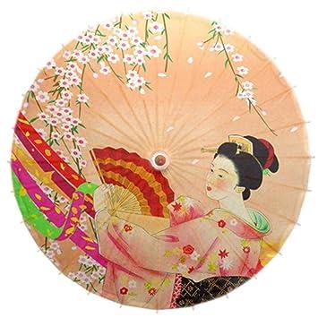 No-impermeable al óleo a mano papel japonés paraguas Restaurante decorado con paraguas #14