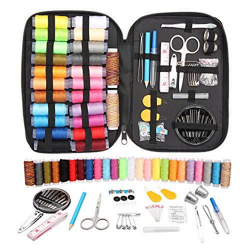 Sewing Kit with Over 96 Premium Sewing Accessories,Travel Sewing Kits With Scissors, Needles, Nail Clipper and Much More,Perfect for Beginners/Adults/Kids,Best Gift Sewing Supplies by BLUEAUTY