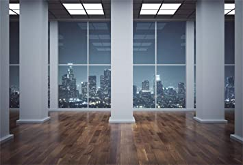 Amazon Com Yeele 7x5ft Interior Room Backdrop Business Office Window With City View Photography Background Modern Interior Design Church Decoration Kids Adults Portrait Photo Studio Props Digital Wallpaper Camera Photo