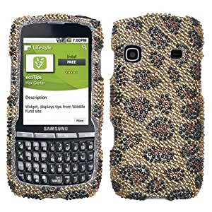 MYBAT Leopard Skin/Camel Diamante Protector Cover for SAMSUNG M580 (Replenish)