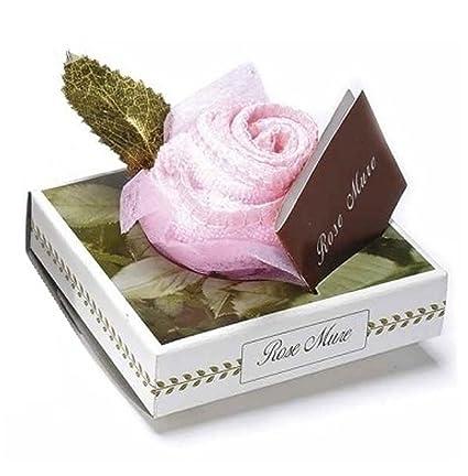 Toalla de microfibra con diseño de rosa en caja regalo