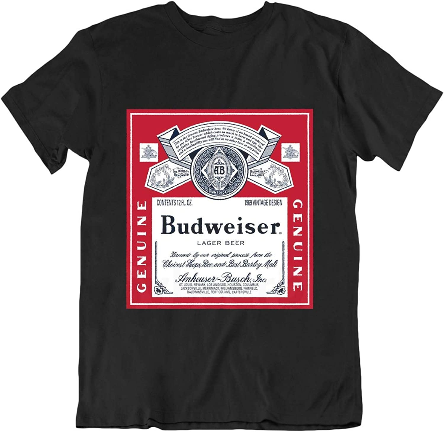 Budweiser Beer T-Shirt - Present Idea for Beer Lovers Homebrewers Drinker