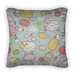 Gear New Sheep On Clouds - E Coon Childish Seamle Throw Pillow,