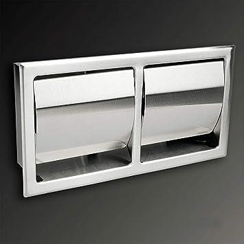 encastr/é /à composer /économe Porte-rouleau de papier toilette en acier inoxydable brillant