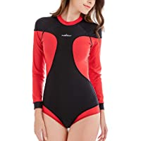 Sabolay 水着 女性用 フィットネス スイミングウェア ワンピース スポーツ トレーニング サーフィン ブラックレッド 4XL