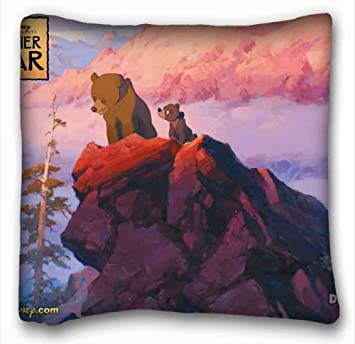 Generic Personalized Brother Bear Wallpaper Popular 26x26 Inch One Side Pizza Rectangle Pillowcase Suitable